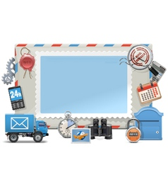 Mail board vector