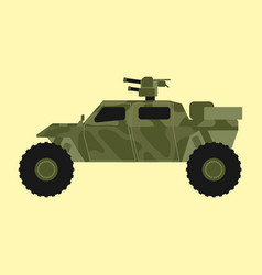 Military transport technic army war tank industry vector