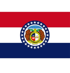 missouri flag vector image