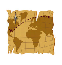 old global map to america estination vector image