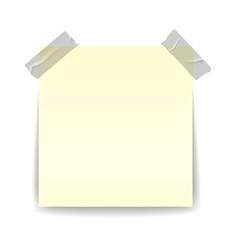 paper reminder scotch tapes transparent strip vector image