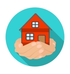 Property donation icon in flat style isolated on vector