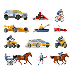 racing evolution elements set vector image