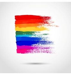 Rainbow strokes vector