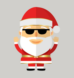 santa claus in black glasses on grey background vector image