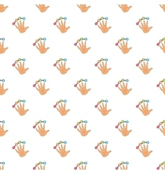 Scanning of finger pattern cartoon style vector