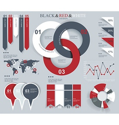 set elements infographics vector image