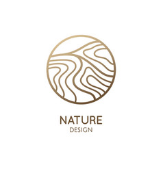 Simple logo pattern structure water vector