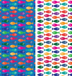 small fish pattern vector image