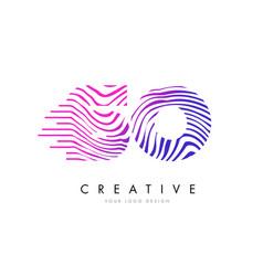So s o zebra lines letter logo design with vector