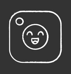 social media chalk icon vector image