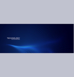 Technology particles dots background design vector