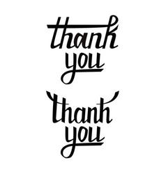 thank you postcard set hand drawn greeting card vector image