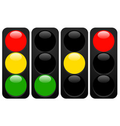 traffic lights lamps traffic light icons with vector image