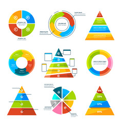 Triangles pyramids and round elements vector
