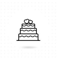 valentine cake icon vector image