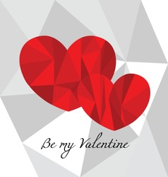 Valentine card design poly vector