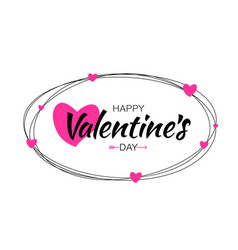 Valentines day card design vector