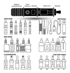 Vape service set vector