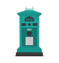 Vintage post box or mailbox icon vector