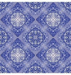 White pattern on blue background vector