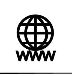 Www sign icon world wide web symbol icon design vector
