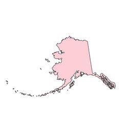 Alaska map isolated on white background silhouette vector