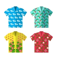Aloha Hawaiian shirt for happy carefree vacation vector image