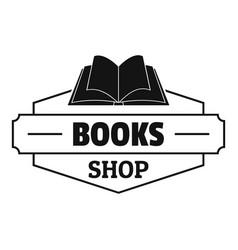 book shop logo simple black style vector image