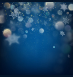 holiday lights and snowflakes eps 10 vector image vector image