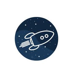 Icon of space rocker vector