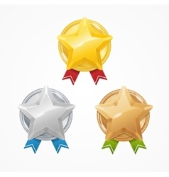 Medals with Stars Set vector image vector image