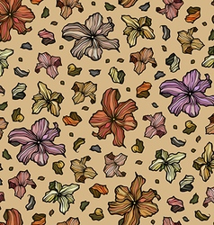 Seamless pattern with beautiful abstract flowers vector image