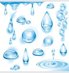 set of water drops vector image vector image