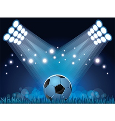 stadium ball vector image vector image