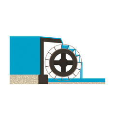 Water mill eps10 vector