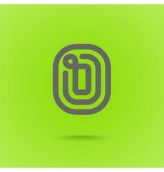 Graphic Line Font Logo Element Letter O vector image