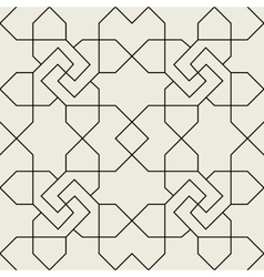 Islamic geometric seamless pattern background vector image vector image