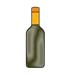 isolated bottle of wine vector image