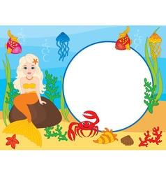 Mermaid Card vector image vector image