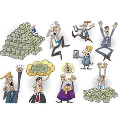 success in business cartoon set vector image vector image