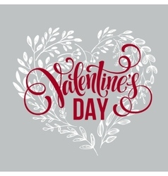 Valentines day card design Hand drawn text vector image