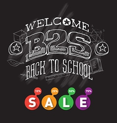 Welcome Back to school sale Banner or poster with vector image