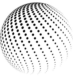 abstract halftone globe design vector image vector image