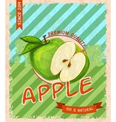 Apple retro poster vector image