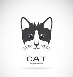 Image of an cat face design vector image vector image