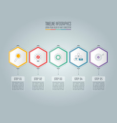 infographic business concept with 5 options vector image