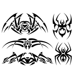 spider tattoos vector image vector image