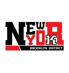T shirt New York Brooklyn district vector image vector image
