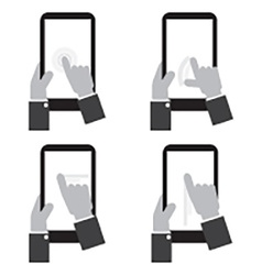 Touch Screen On Tablet vector image